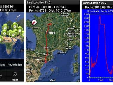 Android APP EarthLocation GPS Tracker