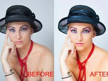 Retouching photography