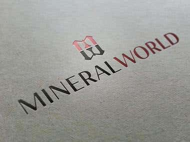 Logotype MINERAL WORLD - part of corporate identity