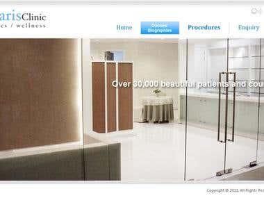 Maharis Clinic Website