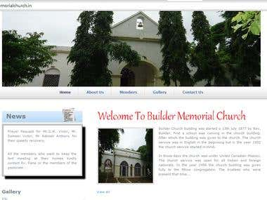 Church website(religious)