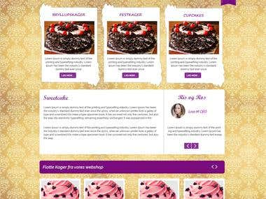 Cake Site (Design and Developemnt)
