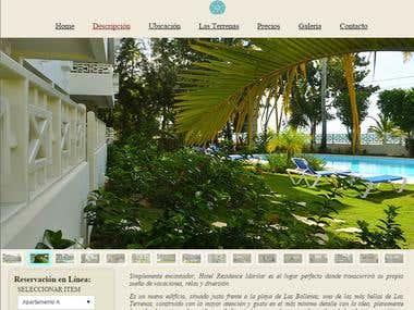 Hotel Residence Marilar. Website: Spanish version. Year 2013