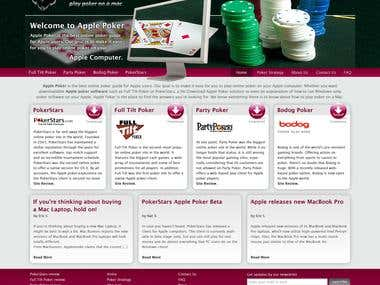 Website for Poker Page