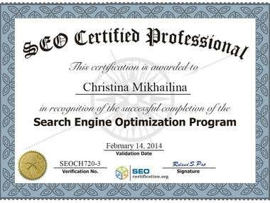 Search Engine Optimization Program