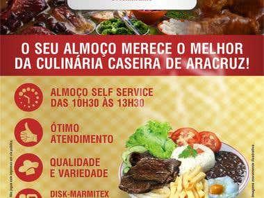 Flyer restaurante novo sabor