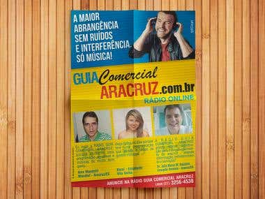 Flyer para GUIACOMERCIALARACRUZ.COM.BR