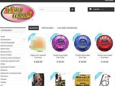 E- commerce http://xexshop.com.mx/