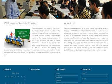 Sanskar Classes - A WordPress Website