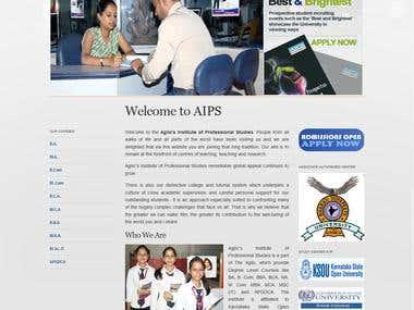 Wordpress Website - Agilo Institute of Professional Studies