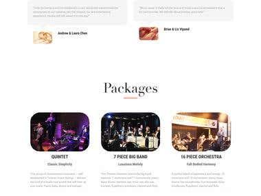 One Page Wordpress Site Development
