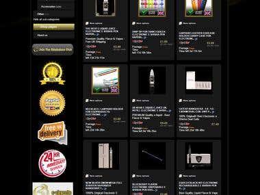 Custom eBay Shop and Listing Template for e-cigarette Seller