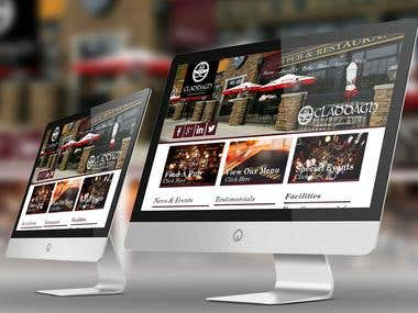 Claddagh Pub Chain Website proposal Design