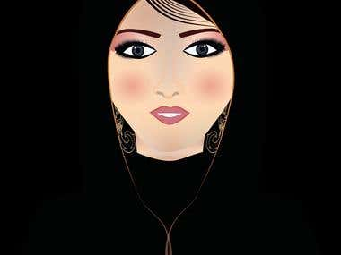 Beautiful woman Illustration