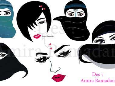 Various woman Illustration
