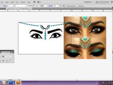 Drawing Arabic eyes