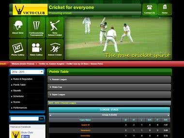 Cricket management application