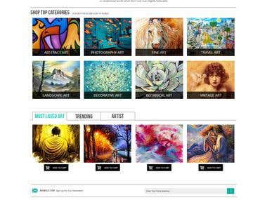 Art Gallery Website with ecommerce Functionality