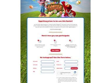 Easter Eggstravaganza Microsite