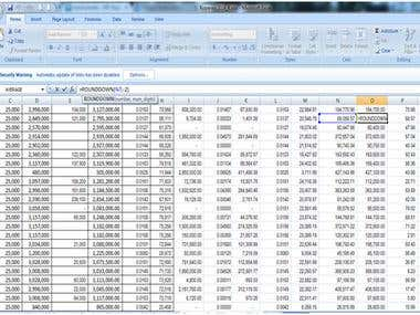 work in excel