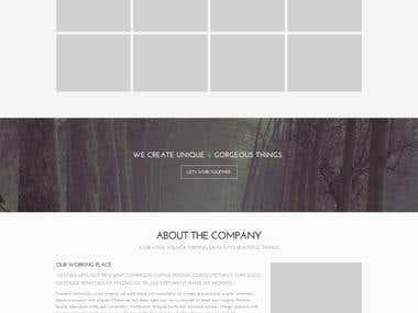 Fullwidth slider website