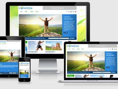 Livingstrong Responsive Wordpress Website