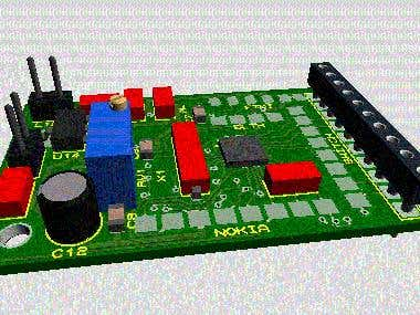 PCB and PCBA with SMD technology (Double Layer component )