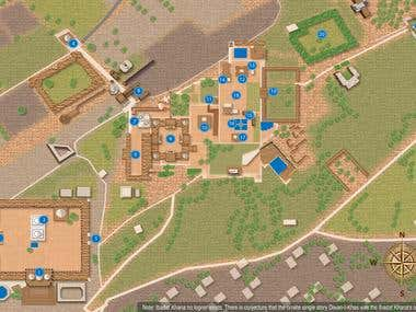 Top view map designs