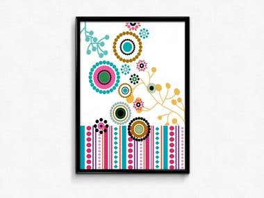 Abstract wall poster design