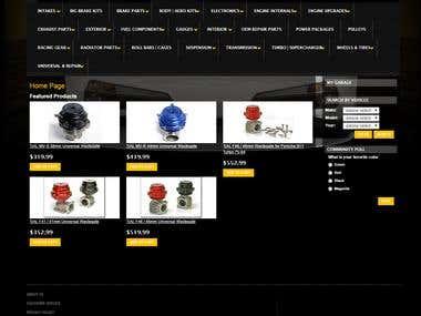 Magento car parts website.