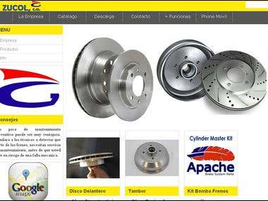 Dinamic web site with 3 menu bars