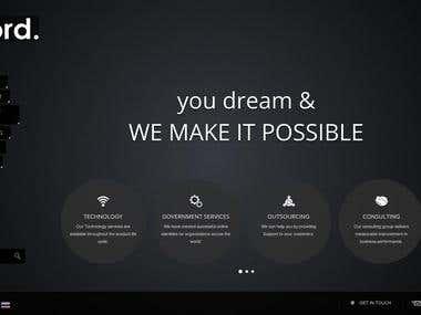 Aford Infocom Company Website Design