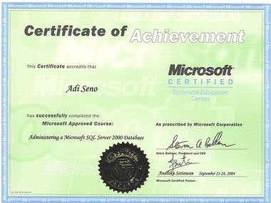 System Admin certification