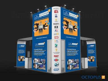 Exhibition booth graphics