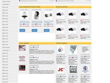 B2B Site design and development