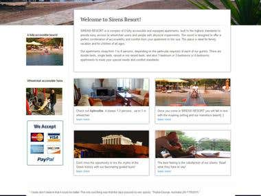 Siren Resort WordPress Wesite