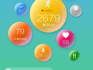Personal health tracking app