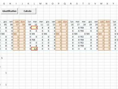Attendance sheet in excel with VBA macros