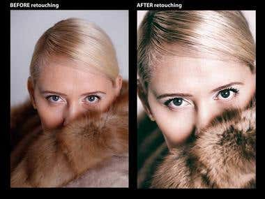 Retouching photographs