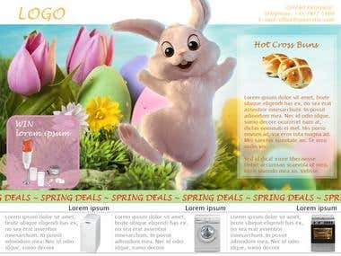 Email flyer Easter theme