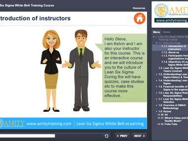 eLearning project using Articulate Storyline 2