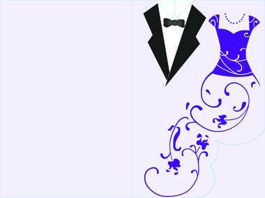 Bilingual Wedding Invitation
