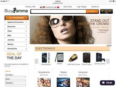 Prestashop eCommerce Site with MultiVendor