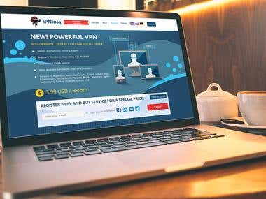 IP Ninja site design
