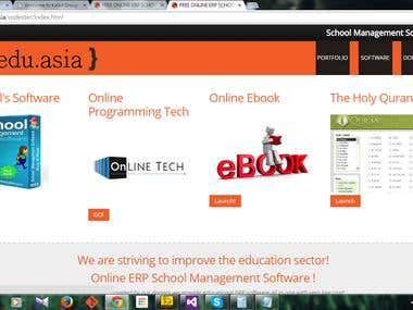 School Management Responsive Web site