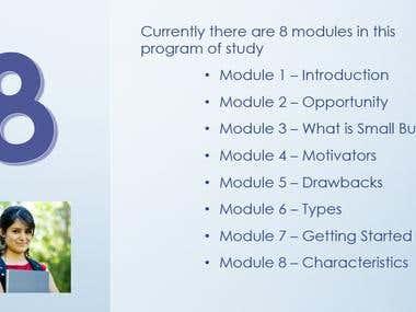 PowerPoint for Educational Slide Deck - 3 slide sample