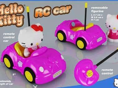 Hello Kitty RC car