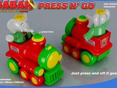 Babar Toy train