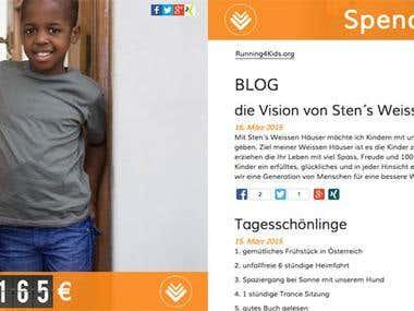 Design und Entwicklung einer Spendenwebsite