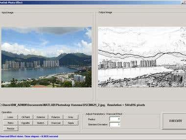 Matlab: Image Filtering Effect